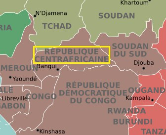 République centrafricaine et sa capitale Bangui