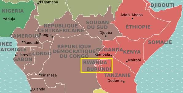 Situer le Rwanda et le Burundi