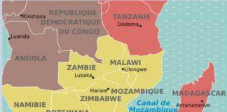 Situer la Zambie et le Zimbabwe