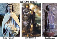 Saint Mamert, Saint Pancrace, Saint Servais: les Saints de Glace