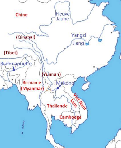 Carte Amerique Latine Avec Fleuves.Les 6 Pays Traverses Par Le Mekong