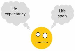 différence entre life span et life expectancy