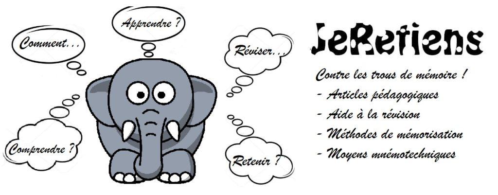 Bannière logo JeRetiens site des trucs astuces et moyens mnémotechniques