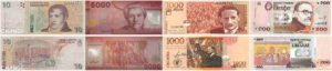 peso argentin, chilien, colombien et uruguayen