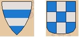 A gauche: séparation sans trait, à droite: séparation avec un trait noir.