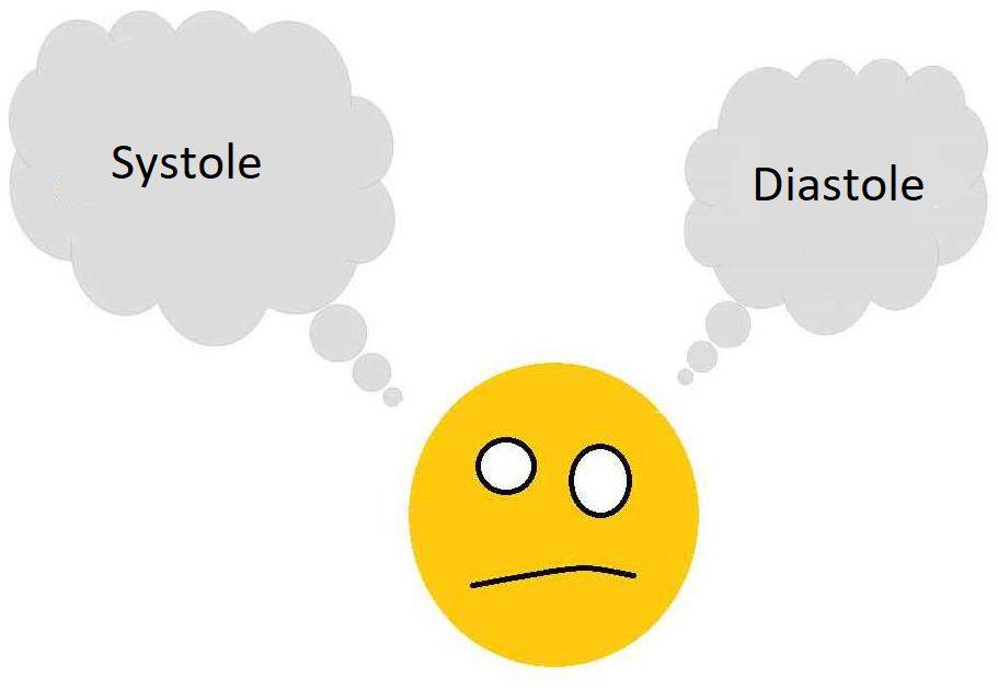 diastole systole diff u00e9rence coeur medecine