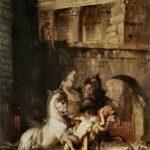 Diomède dévoré par ses chevaux, peint par Gustave Moreau en 1870.