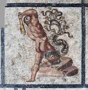 Mosaïque représentant le combat entre Hercule et l'Hydre de Lerne, 170-180 après J.-C.