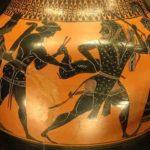 Hercule capturant la biche de Cérynie, amphore attique, 530–520 avant J.-C.