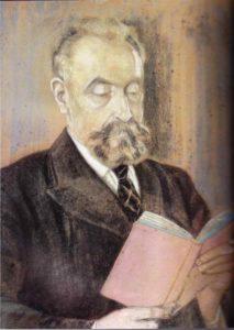Portrait de Marcel Mauss né en 1872 et mort en 1950, anthropologue et théoricien de la notion de fait social total.