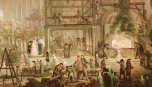 usine 18ème fonderie division travail Adam Smith