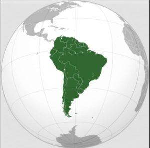 Carte des pays qui se trouvent en Amérique du Sud.