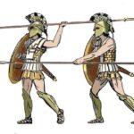 Hoplite armes armure grèce antique épée lance bouclier cnémides