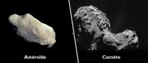 Différence entre une comète et un astéroïde