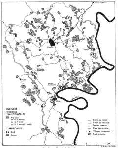 Carte forêt primaire secondaire dense Ziombli culture vivrières commerciales agriculture brûlis