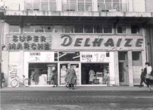 Premier supermarché de Belgique en 1957.