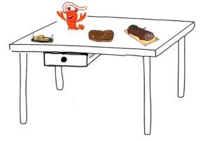 Tablée de repas pour Noël avec un foie gras, du homard, de la biche et une bûche au chocolat, reccettes et prix