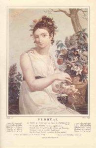 Floréal, mois du calendrier républicain ou révolutionnaire. Gravure de Salvatore Tresca, dessin de Louis Lafitte, 1797-1798.