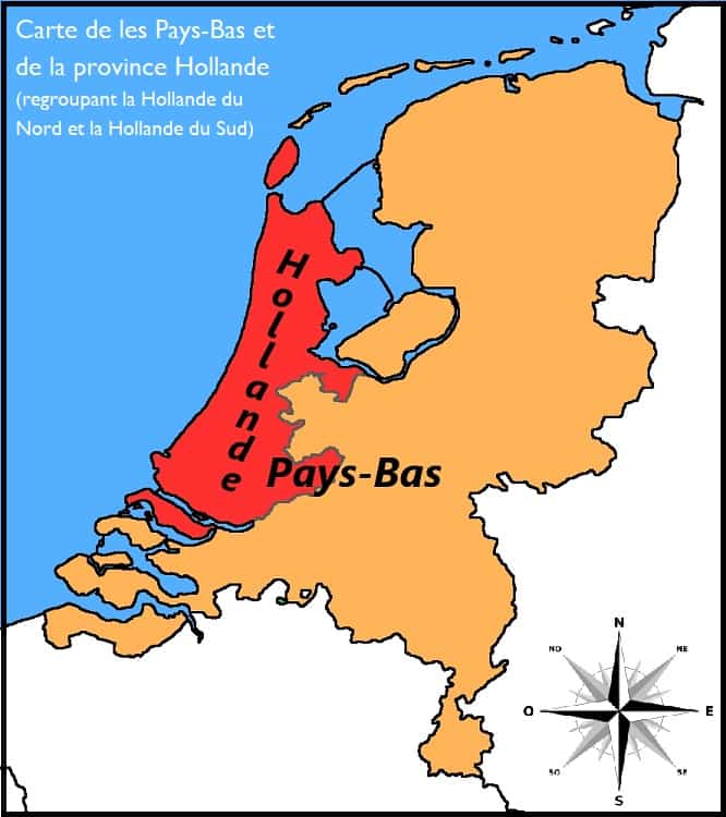 carte pays bas hollande différence