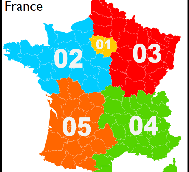 carte_indicatifs_téléphoniques_France_métropolitaine