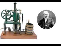 Robert Stirling et son moteur.