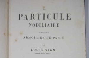 Le petit de, la particule nom des nobles