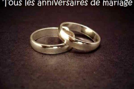 Noces De Tous Les Anniversaires De Mariage