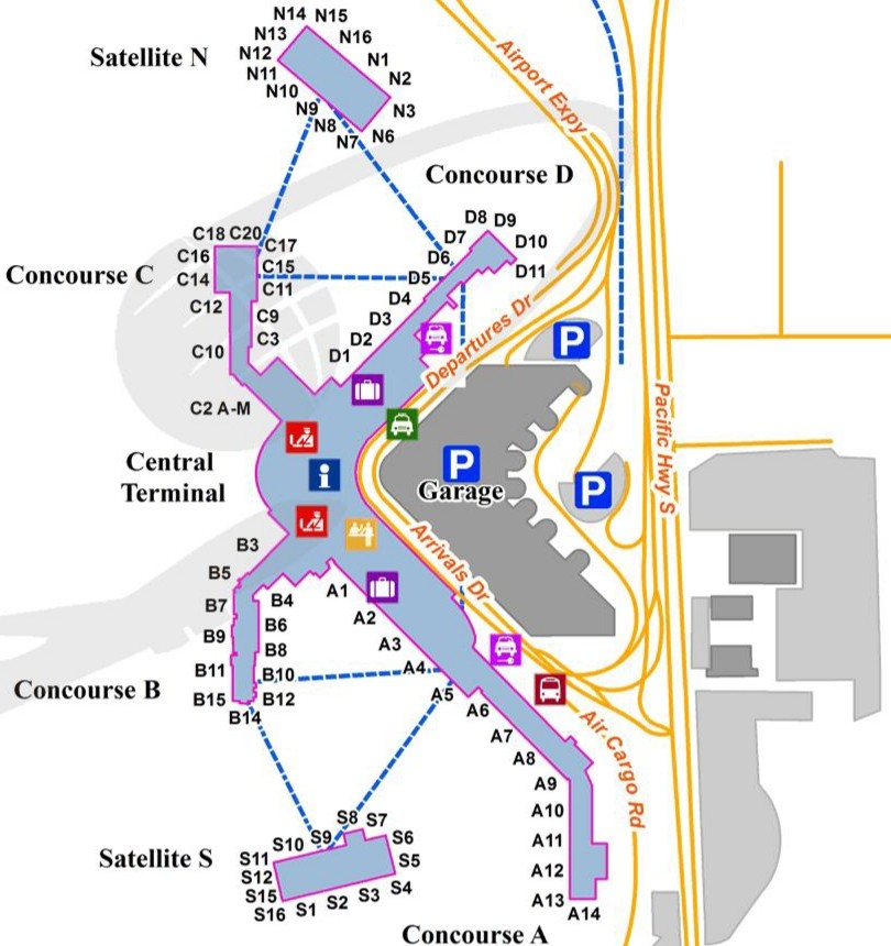 Les configurations d'aéroport quel plan aéroport ? plan de terminal