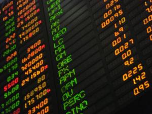 Indices boursiers, cours des actions