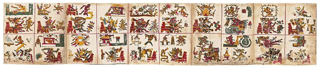Représentation des jours du calendrier aztèque