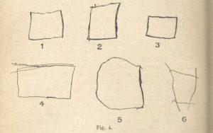 Test du carré pour un enfant de 5 ans Binet et Simon