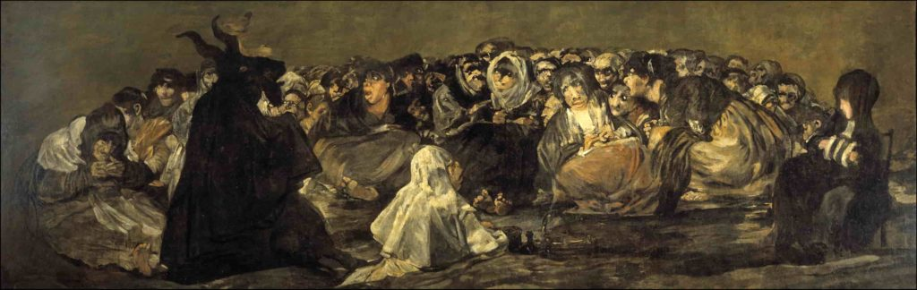 Le sabbat des sorcières ou le Grand Bouc, 1819-1823, Francisco de Goya