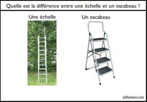 Quelle est la différence entre une échelle et un escabeau ?