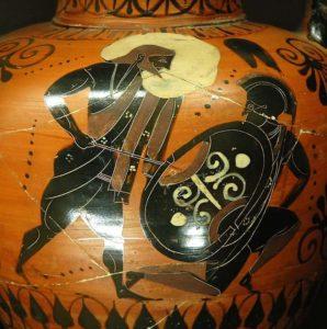 La gigantomachie, guerre entre les Géants, les dieux et Hercule