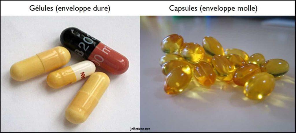 Quelle est la différence entre une gélule et une capsule ?