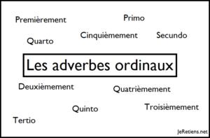 Quels sont les adverbes ordinaux en latin ?