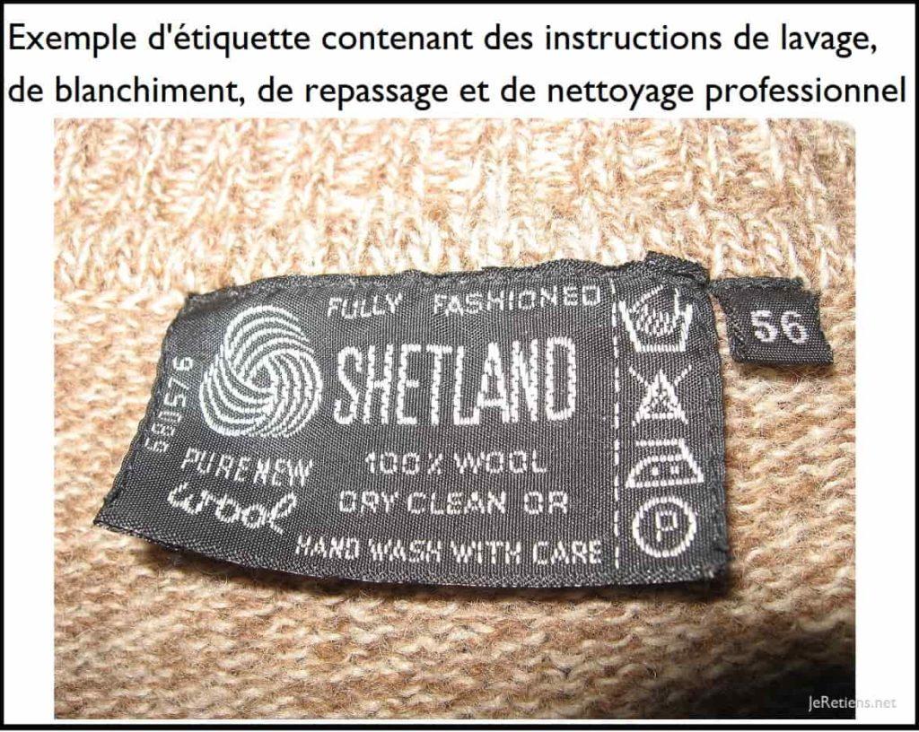 Comment lire l'étiquette de lavage et de séchage d'un vêtement ?