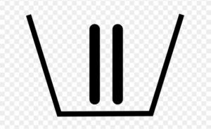 Symbole bac de la machine à laver le linge avec un chiffre II
