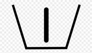 Symbole bac de la machine à laver le linge avec un chiffre I
