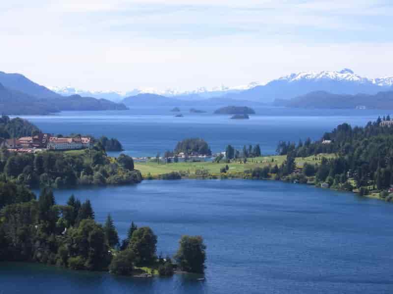 Le lac nahuel Huapi en Argentine.