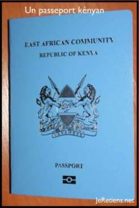 Un passeport du Kenya