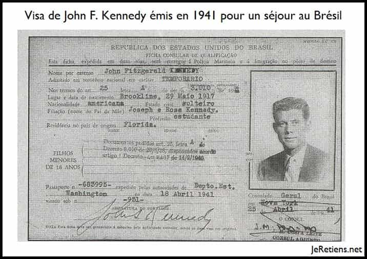 Exemple de visa de John Kennedy